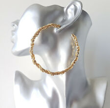 Beautiful 8cm gold tone CHUNKY chain design half hoop earrings - Top Quality NEW