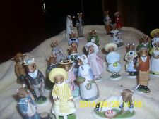 Franklin Mint Fp85 Mouse Bisque Porcelain Figurines Lot Of 25 Woodhouse Mice