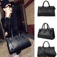 Femmes Messenger Bag Mode PU cuir noir Sac à main fourre-tout Sac à bandoulière
