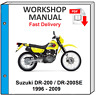 SUZUKI DR200 DR200SE DR 200 DR 200SE 2008 2009 SERVICE REPAIR SHOP MANUAL WIRING
