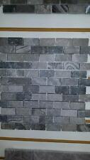 SILVER GRAY 1X2 split face marble for walls veneer cladding
