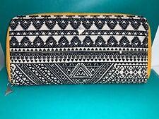 🌸 Silpada Black White Yellow Zipper Jewelry Organizer Travel Bag (W10)  NWOT🌸