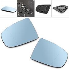 Pair Heated Wing Side Mirror Blue Glass For BMW X5 X6 E70 E71 E72 2008-2014 AU