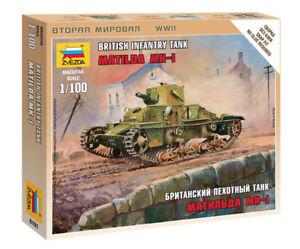 Zvezda 1/100 Matilda MkI British Infantry Tank Z6191