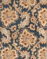 Traditional Floral Paisley Charcoal/Gold Oriental Hand-Tufted Wool Area Rug