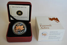 2012 Canada 1/2 oz Fine Silver with Pink Gold Plating - Farewell to the Penny