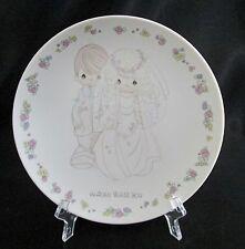 Enesco Precious Moments Bride Groom Heaven Bless You Porcelain Velvet Plate
