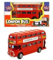 1x Die Cast Red Double Decker Bus Routemaster London Toy Collectibles UK SELLER