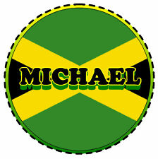 JAMAICA FLAG - PERSONALISED TAX DISC HOLDER ANY NAME/S