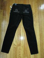 New Seven 7 Size 2 Black Corduroy Skinny Legging Cord Jeans