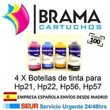 4 X BOTELLAS DE TINTA NON OEM HP HP21 , Hp22, Hp56 , Hp57, Hp21XL Hp22XL Hp56XL