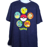 Pokemon Men's XL Blue Tee Shirt Short Sleeves With Graphics On Front