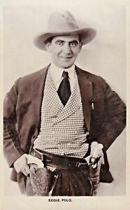 EDDIE  POLO - hollywood SILENT/talkies SCREEN/movie star  1920s postcard