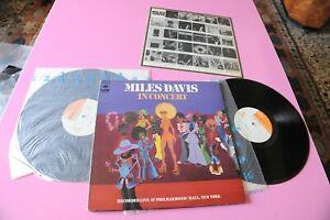 MILES DAVIS IN CONCERT JAPAN 1973 NM 2LP + INSERTO NO OBI