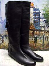 Stuart Weitzman Tass Leather Hidden Wedge Boots - Size 11M - $695