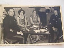 POSTCARD, PHOTOGRAPH, WW ll, NAVAL, WARRANT OFFICERS, RARE, VINTAGE