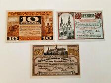 PRÜM GEWERBEVEREIN NOTGELD 10,25,50 PFENNIG 1921 EMERGENCY MONEY GERMANY (11516)