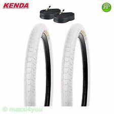 01022006K-W 2 x Kenda Krackpot Fahrrad Reifen Weiß 20 x 1.95 50-406 + Schläuche