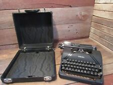 Vintage RARE Smith Corona Sterling Typewriter Black W/Case Floating Shift Works!