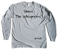 Men's Silence The Whisperers The Walking Dead Regular Fit Long-Sleeve T-Shirt