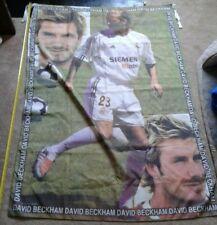 David Beckham Real Madrid flag *Vintage* *Man U* Inter Miami FC* PSG* LA Galaxy*