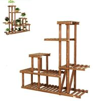 Wood Plant Stand Multi-layer Pot Plant Shelf Garden Indoor Planter Flower Rack