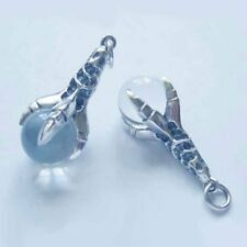Sterling Silver Dragon Claw Crystal Ball Pendant