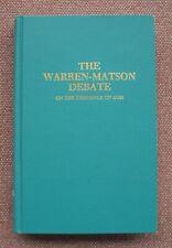 Thomas B. Warren & Wallace Matson Debate on Existence of God Church of Christ HB