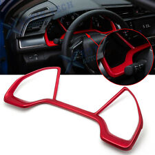 For Honda Civic 2016-2019 10th ABS Red Inner Dashboard Frame Panel Cover Trims
