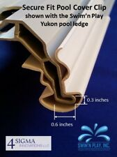 """22"""" Secure Fit Above Ground Swimming Pool Cover Clips (10 Pack) - MADE IN USA"""
