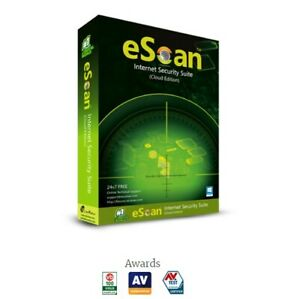 eScan Internet Security Suite with cloud security for 2 PCs (ESD license)