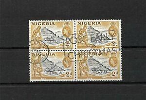 Nigeria, QEII 1953 pictorials, 2d in used block of four (N055)