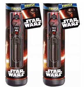 2 Star Wars Firefly Light Up LightSaber Toothbrush-2 Minute Timer-Kylo Ren Lot