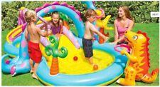 Kids Dinoland Play Centre Intex Inflatable Water Pool Slide Sprayer Games fun