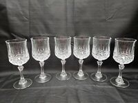 Longchamp J G Durand Cristal D'Arqoues Wine Water Goblet Glasses 24% 6oz Set (6)