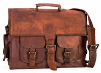 Men's Retro Genuine Leather Messenger Shoulder Bag Laptop Case Briefcase Bag