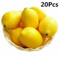 20PCS Lemon Artificial Fruit Fake Theater Prop Staging Home Decor Faux Lemons
