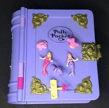 Polly Pocket mini 💚 1995 Unterwasserwelt Buch sparkling mermaid adventure  (2)