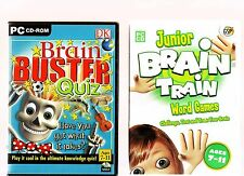 BRAIN BUSTER QUIZ & JUNIOR BRAIN TRAIN WORD GAMES. GREAT SOFTWARE FOR AGES 7-11.