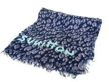 Auth LOUIS VUITTON Etole Leopard DarkNavy DarkGray LightGreen Cashmere Silk