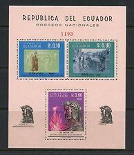 Ecuador 1966  #750D art Dante Galileo PERF sheet  MNH  I789