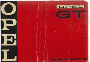 OPEL GT Betriebsanleitung 1969  Bedienungsanleitung Handbuch Bordbuch BA