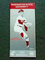 1984 Washington State University Baseball Handbook, Schedules & Players (Exc)