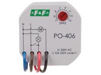 F&F PO-406 Zeitrelais 230V AC 10A 1x NO IP20 Ventilator Lüfter Beleuchtung Licht