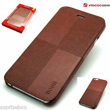 Apple Iphone 6 6S Leather HOCO CRYSTAL FASHION  Wallet Book Case  Cover- BROWN