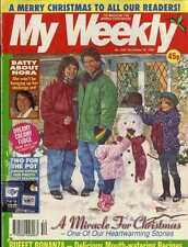 MY WEEKLY MAGAZINE 30/12/1995 CROSS STITCH DELPH DESIGN, KATHY STAFF NORA BATTY