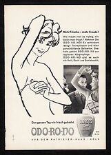 3w760/ Alte Reklame - von 1961 - ODO-RO-NO - Den ganzen Tag wie frisch gebadet