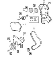 Genuine MOPAR Crankshaft Damper 53010477AB