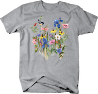 Birds sitting on Flowers Wild Custom Tshirt