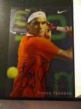 Roger Federer Autograph Nike Promotional Photo Card